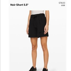 lululemon Black Noir Short 5.5""